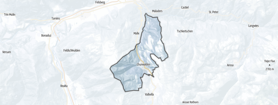 Mapa / Rutas de senderismo de invierno en Churwalden
