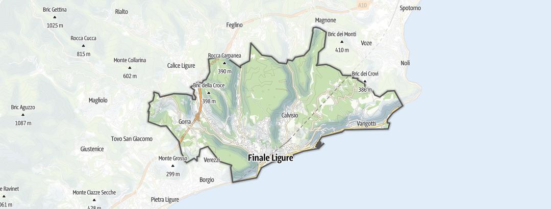 Hartă / Trasee de ciclism montan in Finale Ligure
