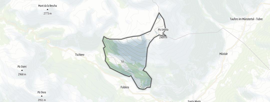 地图 / 在Lü里的山地车路线