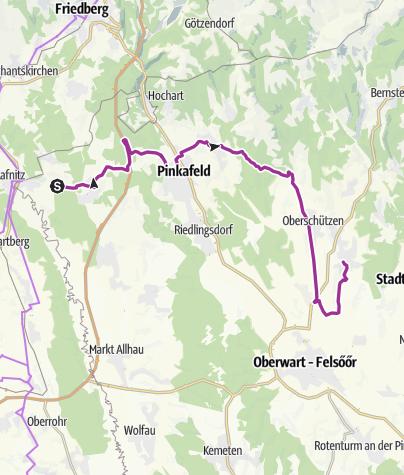 Karte / Von Lafnitztal nach Bad Tatzmannsdorf