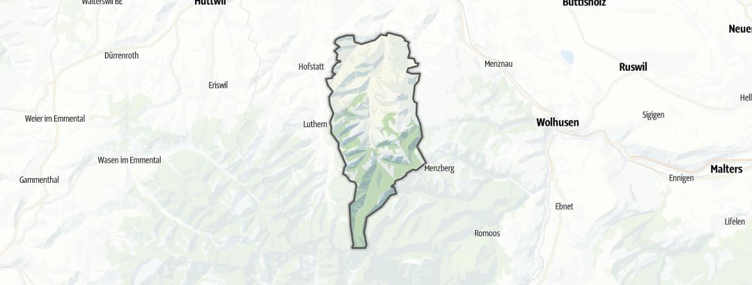 Карта / Тропы горного велосипеда в Hergiswil bei Willisau