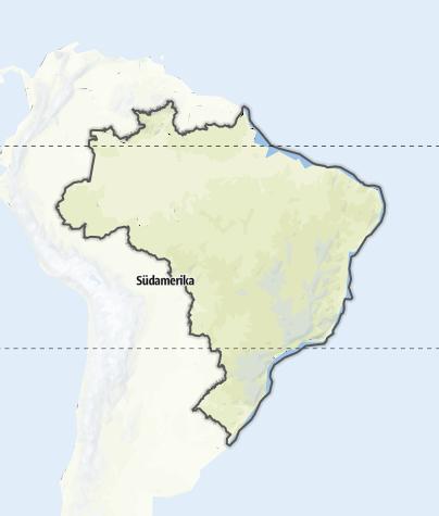 Karte / Brasilien