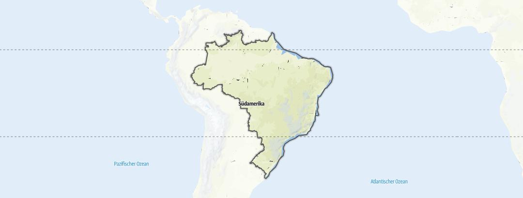 Carte / Randonnée - Brésil