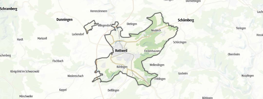 Térkép / Túrázás,  Rottweil területén