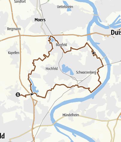 Karte / 40 KM am E  SEE und Rhein on GPSies.com