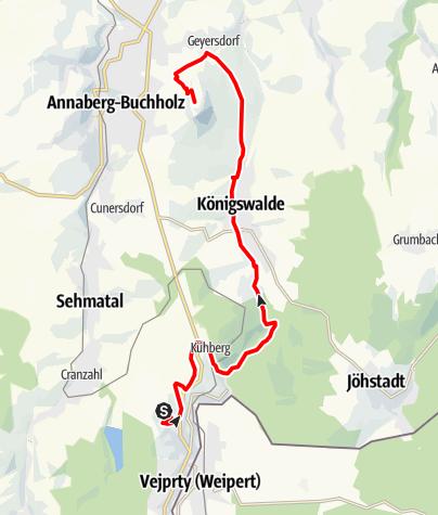Karte / Stoneman Miriquidi Abschnitt Bärenstein Pöhlberg