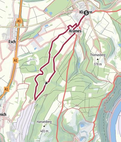 Karte / Rundwanderweg Klausen zur Rivenicher Grillhütte