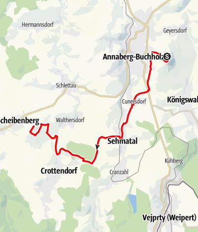 Karte / Stoneman Miriquidi Abschnitt Pöhlberg Scheibenberg