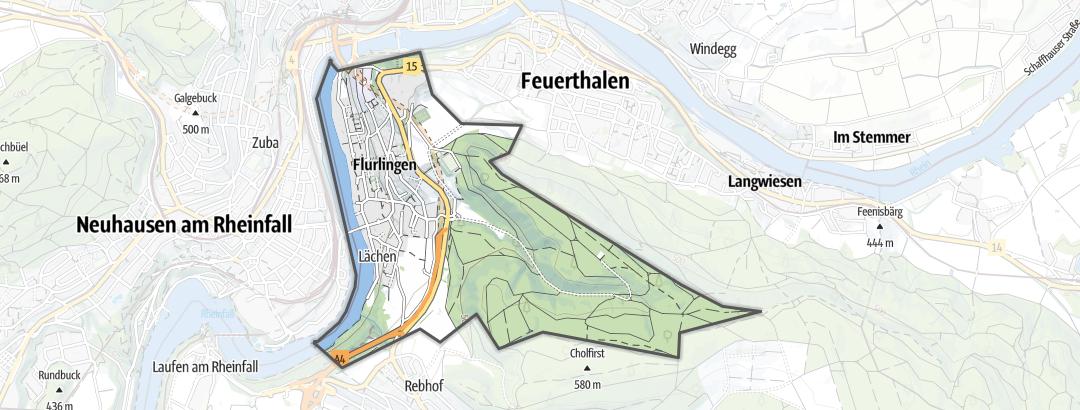 Hartă / Drumeții in Flurlingen