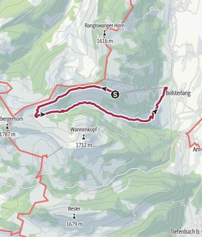 Map / Hüttentour im Hörnerbahngebiet Bolsterlang