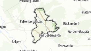 Hartă / Uebigau-Wahrenbrueck