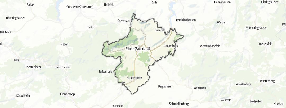 Karte / Wanderungen in Eslohe (Sauerland)