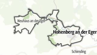 מפה / Hohenberg an der Eger
