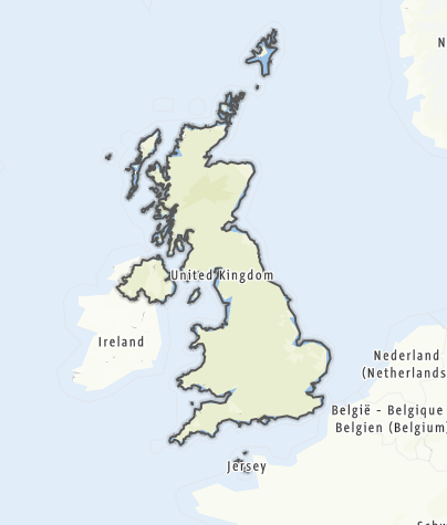 Map / United Kingdom of Great Britain and Northern Ireland