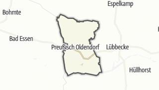 Mapa / Preußisch Oldendorf