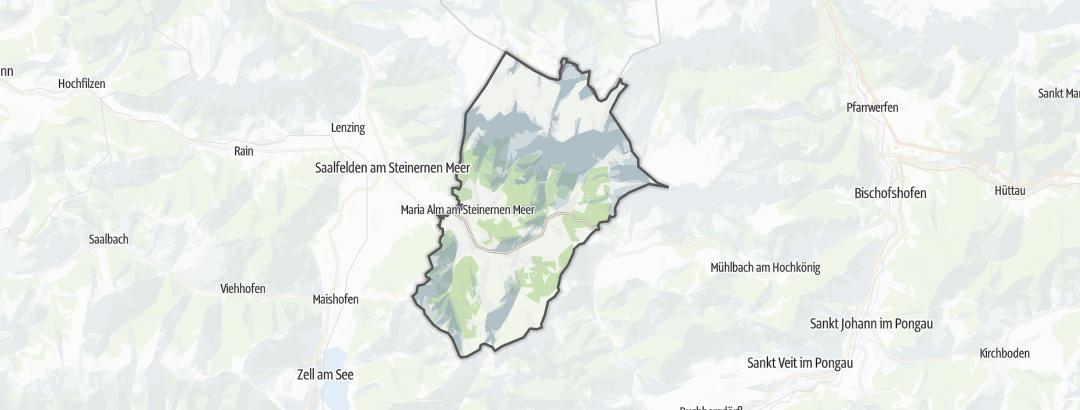 Karte / Wanderungen in Maria Alm am Steinernen Meer