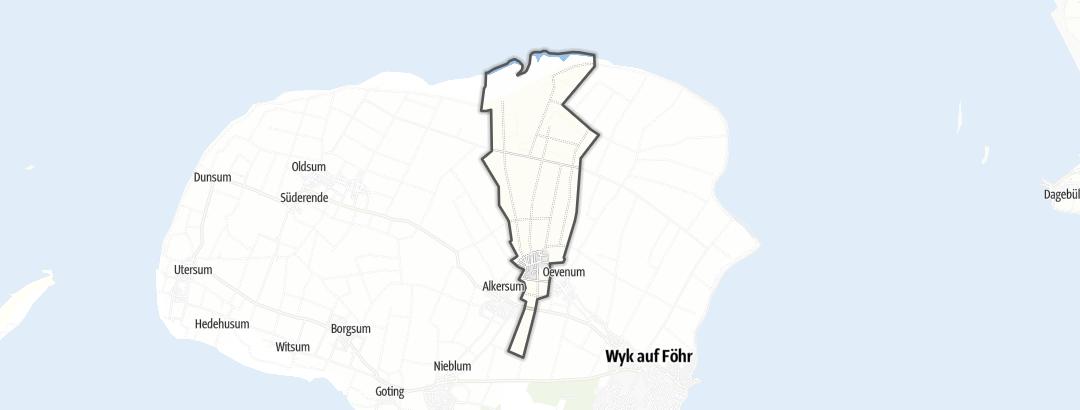 Karte / Wanderungen in Midlum