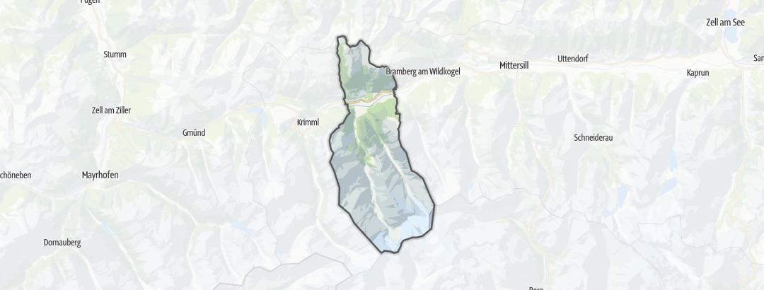 Karte / Radtouren in Neukirchen am Großvenediger
