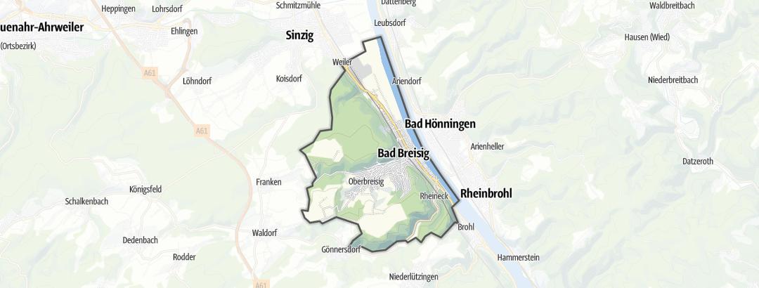 Kart / Ferieleiligheter i Bad Breisig