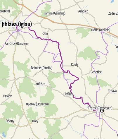 Karte / Von Trebic nach Jihlava