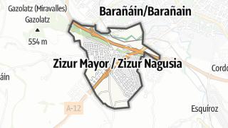 Karte / Zizur Mayor