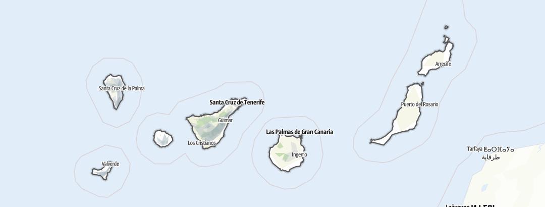 地图 / 在Canary Islands里的徒步