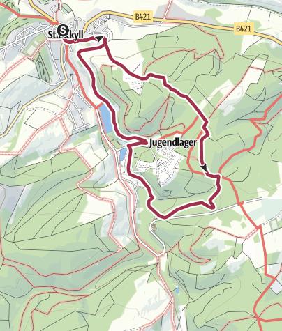 Karte / Wanderweg Stadtkyll SY2