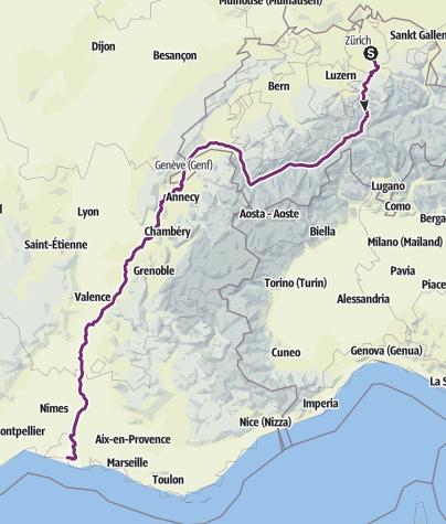 Karte / Herbst-Velo-ferien 2014