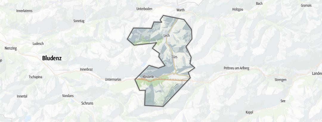 Mapa / Nabídky v oblasti Arlberg