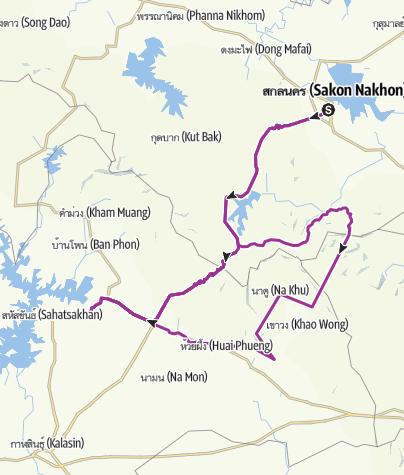 Карта / สกลนคร