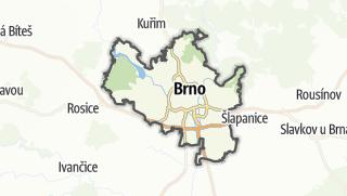 Hartă / Brno-město