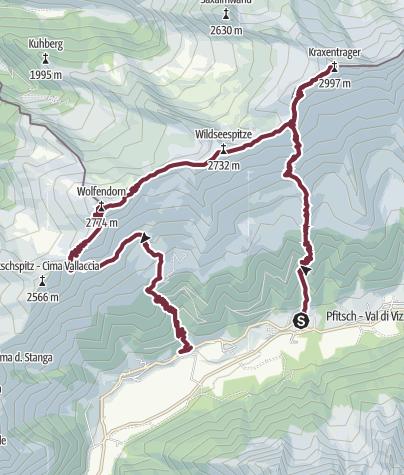 Karte / Über die Landshuter Hütte auf den Wolfendorn
