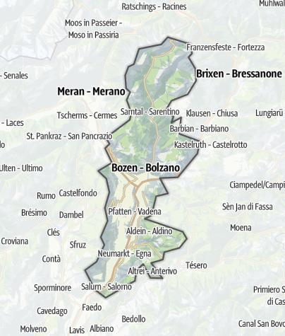 Map / Bolzano and environs