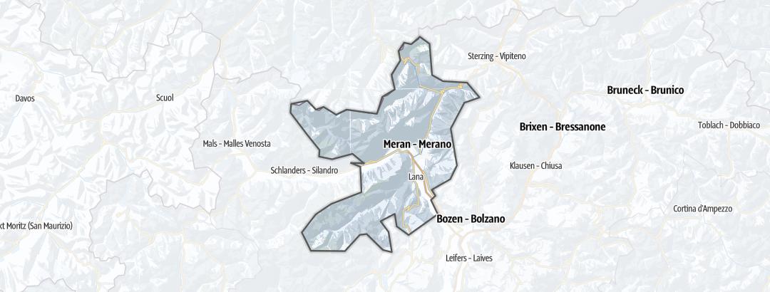 מפה / מסלולי הליכה חורפיים במחוז מראן