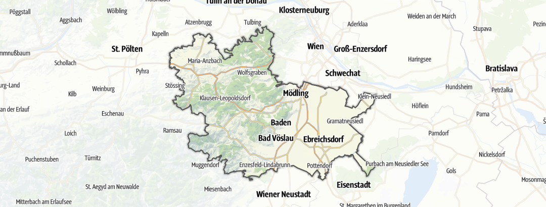 Kart / Naturreservat i Wienerwald