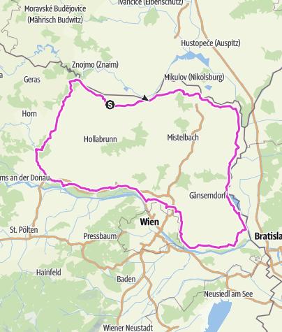 Karte / Weinviertel Umrundung
