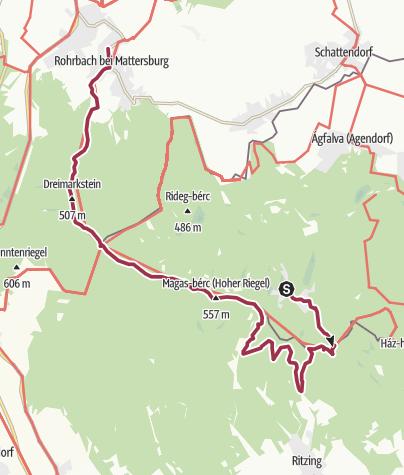 Karte / Sopron-Brennbergbanya-Helenenschacht-Herrentisch-Rohrbach