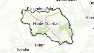 Cartina / Menden (Sauerland)