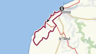Karte / Rundwanderung im Westen von Étretat