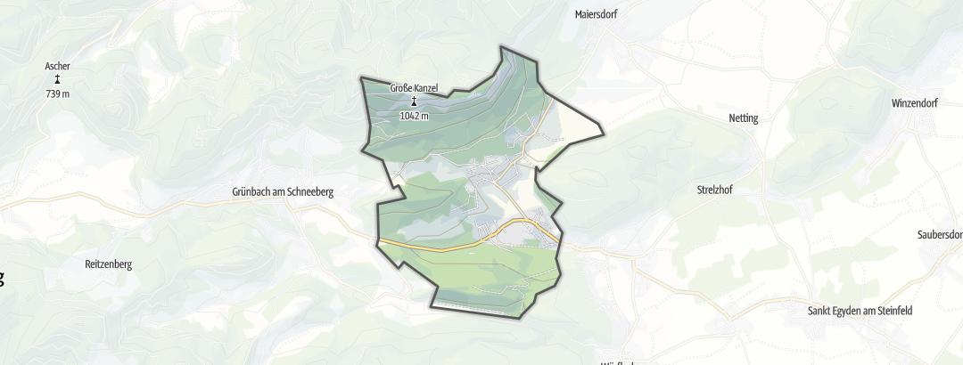 Karte / Berghütten in Höflein an der Hohen Wand