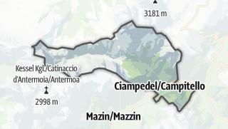Karte / Campitello di Fassa