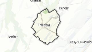 Mapa / Thierrens