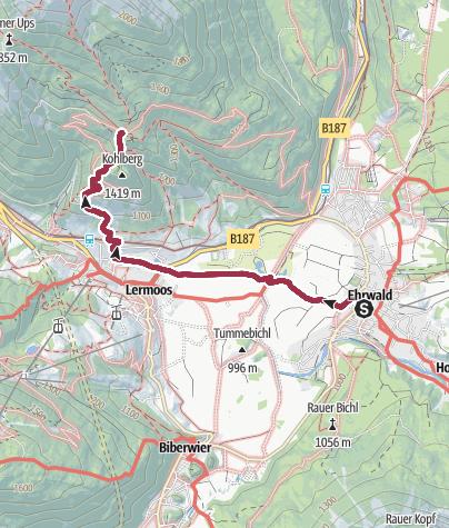 Karte / Vom Kirchplatz zur Tuftlalm