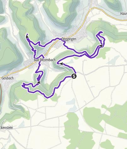 Karte / HM Schonter Höhe Rundkurs