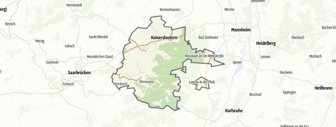 Karte / MTB-Touren im Naturpark Pfälzerwald
