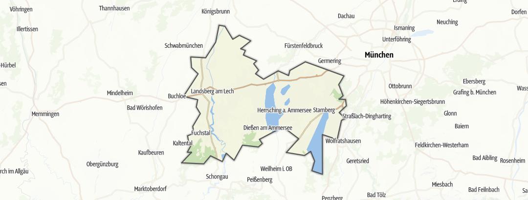Kart / Fotturer i Starnberg Five-Lakes