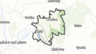 Mapa / Štětí