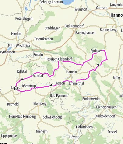 Karte / Nach Springe mit Gerd