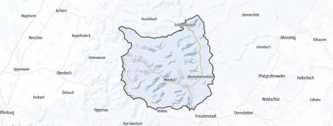 Karte / Langlauf-Loipen in Baiersbronn