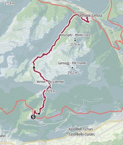 Karte / Vom Vinschgau ins Schnalstal über die Vermoispitze